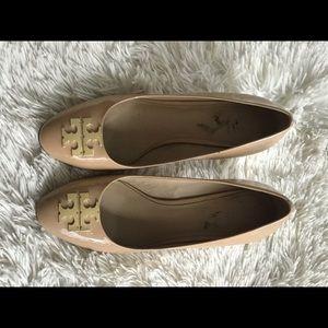 Tory Burch nude block heels size 8 1/2